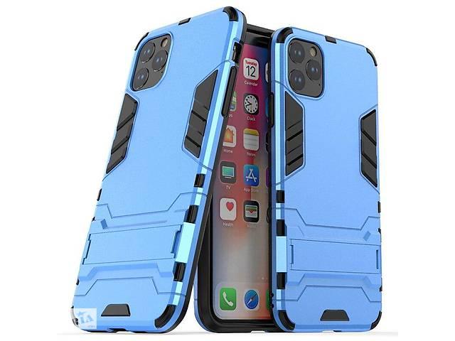 купить бу Чехол Hybrid case для Apple Iphone 11 Pro бампер с подставкой голубой в Киеве
