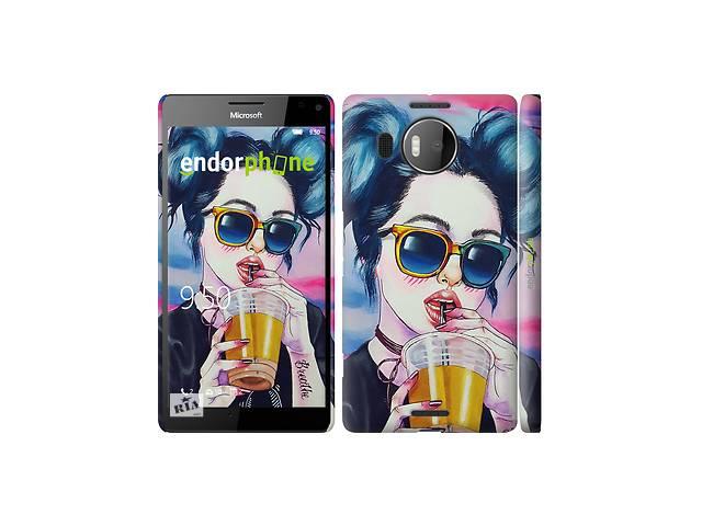 продам Чехол на Microsoft Lumia 950 XL Dual Sim Арт-девушка в очках 3994c-407 бу в Одессе