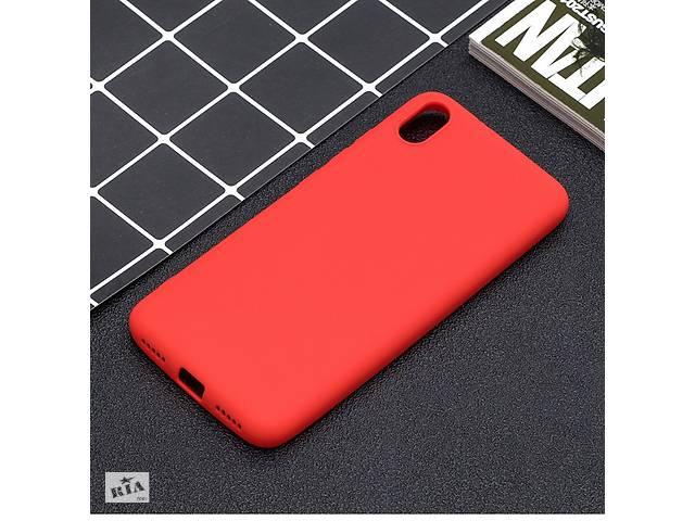 купить бу Чехол Soft Touch для Xiaomi Redmi 7A силикон бампер красный в Киеве