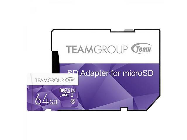 бу Карта памяти Team 64GB microSD Class10 UHS-I (TCUSDX64GUHS41) в Киеве