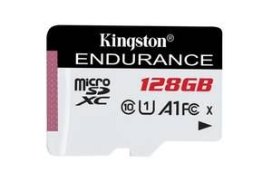 Карта памяти Kingston 128GB microSDXC class 10 UHS-I U1 A1 High Endurance (SDCE/128GB)