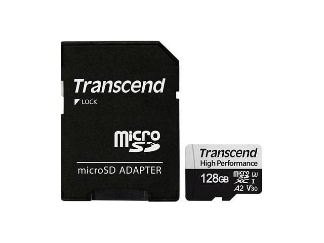 продам Карта памяти Transcend 128GB microSDXC class 10 UHS-I U3 A2 (TS128GUSD330S) бу в Киеве