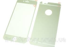 Стекло защитное цветное 2-х стор. IPhone 5/5s/SE:Silver