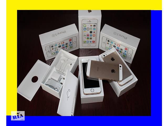 купить бу IPhone 5s 32Gb gold [NEW в заводской плёнке]оригинал 100% NEVERLOCK (без аванса (+подар. стекло айфон 5с в Хмельницькому