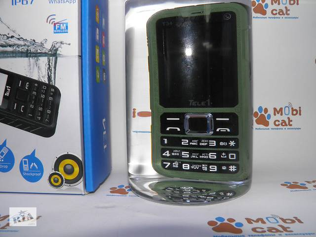 продам Противоударный влагозащищенный телефон Tele1 T34 - оригинал, суперкачество IP67! бу в Одессе