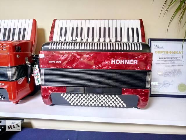 Продам новый аккордеон Hohner Bravo III 96 7/8 Красный- объявление о продаже  в Одесі