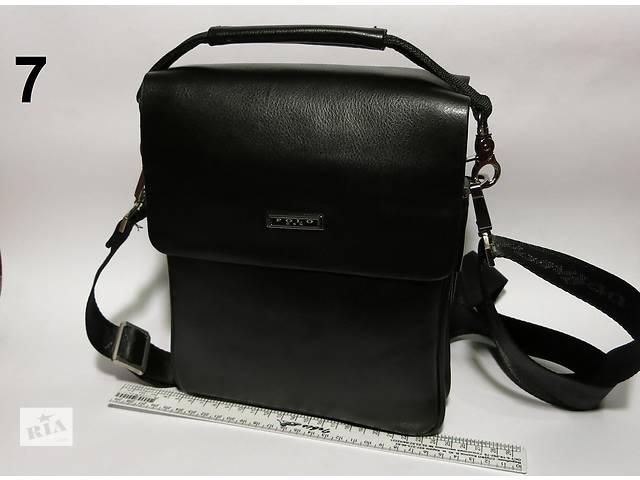 купить бу Мужская чоловіча кожаная сумка барсетка через плечо Polo арт-1273 в Львове