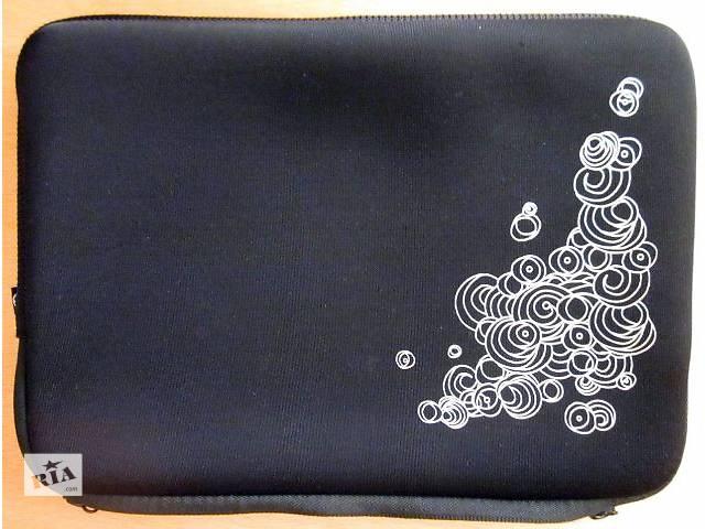 """Мягкий чехол на молнии черного цвета с белым рисунком 10""""- объявление о продаже  в Полтаве"""