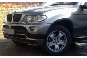 Накладка на передний бампер послерестайл (под покраску) BMW X5 E-53 1999-2006 гг. / Тюнинг переднего бампера