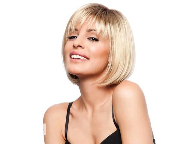 купить бу Натуральный парик блонд Ирина, из натуральных волос, каре + Видео и фото в Киеве