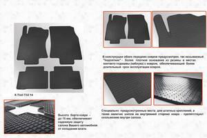 Nissan X-Trail 2014-2021 резиновые коврики Stingray Premium