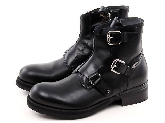 81043907d бу Новые стильные и брутальные кожаные черные ботинки Cesare Paciotti 4US  р. 42 Сделаны в