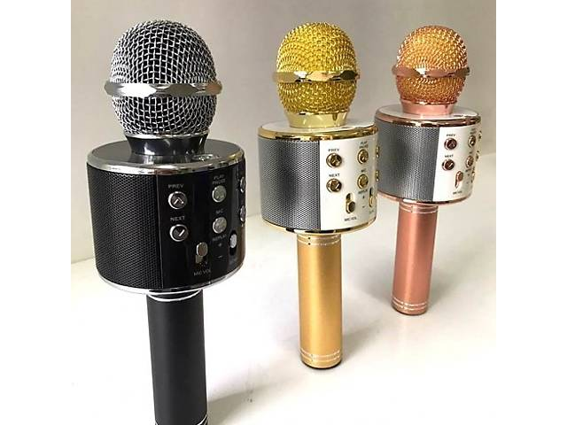купить бу Беспроводной караоке микрофон WS 858 на Подарок в Киеве