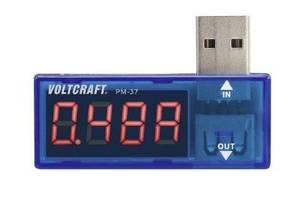Измерительный USB-тестер VOLTCRAFT PM-37 Дисплей CAT I для измерения напряжения, ёмкости, тока