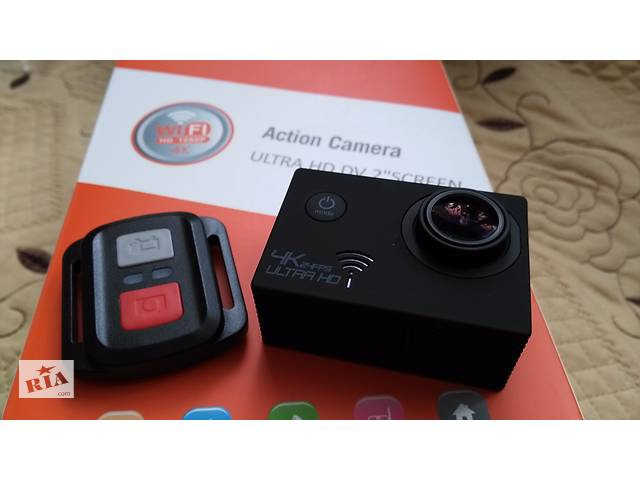 Экшн камера SJ8000 Remote 4K WiFi Sony IMX117 + Пульт - Фотоаппараты