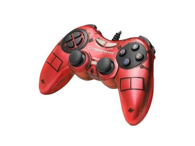 купить бу Геймпад Esperanza Fighter PC Red (EGG105R) в Дружковке
