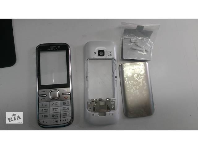 продам Корпус Nokia C5-00 (бело-стальной) бу в Львове