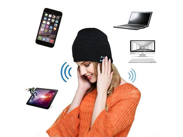 продам Шапка со встроенными блютус наушниками и микрофоном KS Magic Hat MH1 бу в Каменец-Подольском