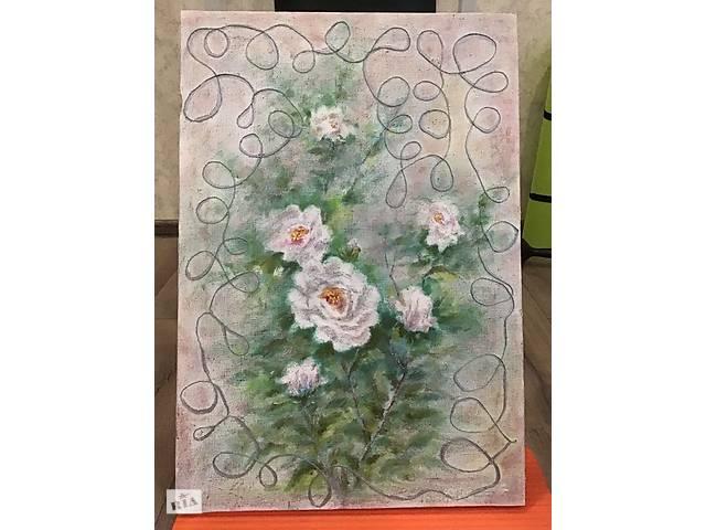 Картина маслом цветьі- объявление о продаже  в Житомире