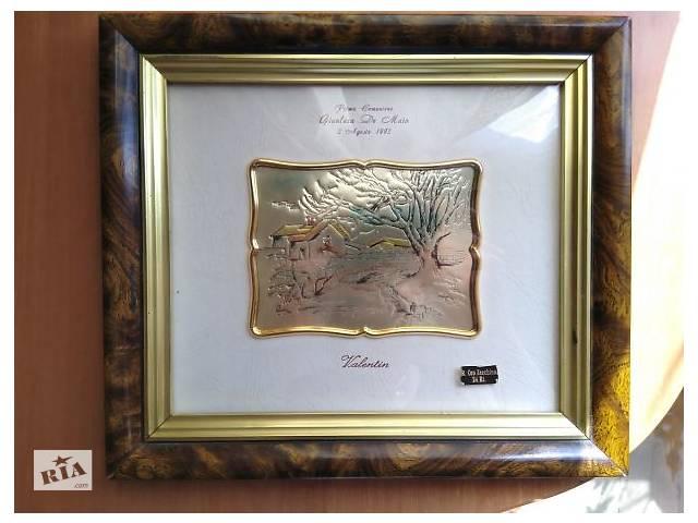Картина, миниатюра, серебро, золото, Италия, антиквариат, искусство- объявление о продаже  в Тернополе