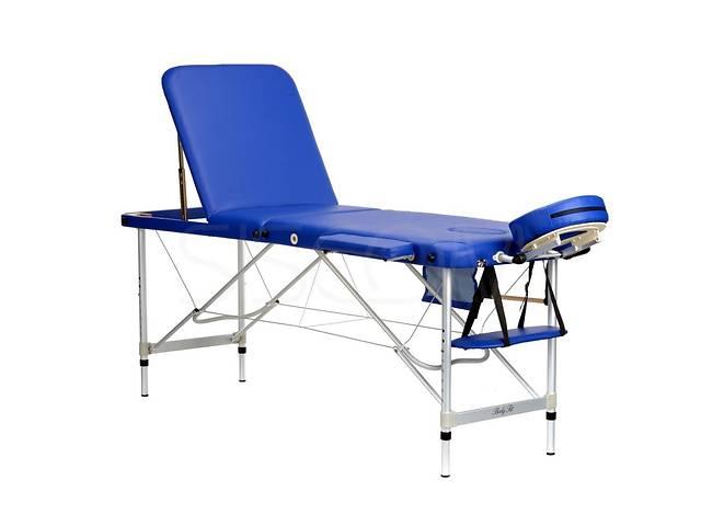Массажный стол 3-х сегментный алюминиевый метал для массажа, шугаринга и косм процедур