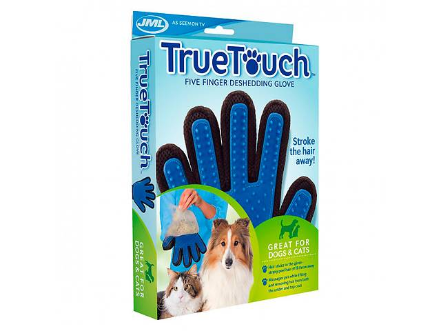 бу Перчатка для вычесывания шерсти животных True Touch  на правую руку в Киеве