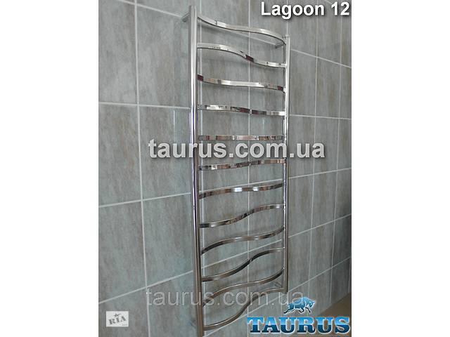 купить бу Высокий полотенцесушитель Lagoon 12 /1250х500 для ванной комнаты с волновыми перекладинами. TAURUS, Смела в Смілі
