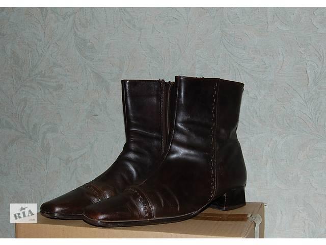 Полусапожки осенне-весенние кожаные 38 размер производство Италия .- объявление о продаже  в Харькове