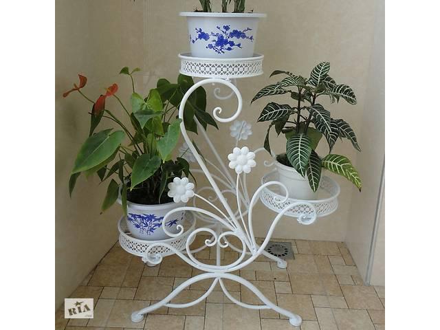 бу Кованые декоративные цветочники, подставки, подвески для вазонов. в Ладыжине