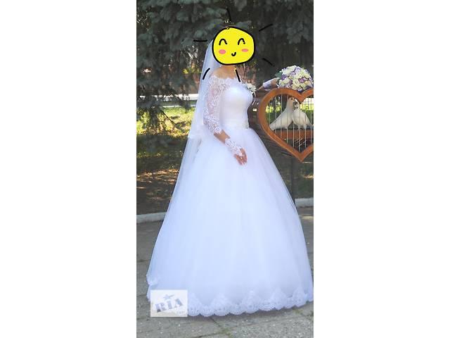 купить бу Продается свадебное платье в отличном состоянии. в Знаменке (Кировоградской обл.)