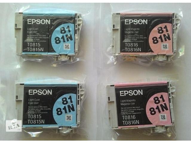 купить бу Продам оригинальные картриджи Epson T081 light cyan и light magenta в Киеве