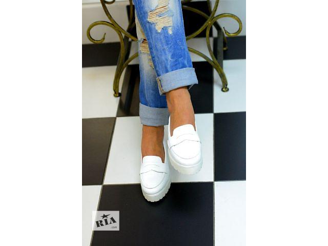 продам Продам туфли Слипоны белый лак 37й размер бу в Белой Церкви (Киевской обл.)