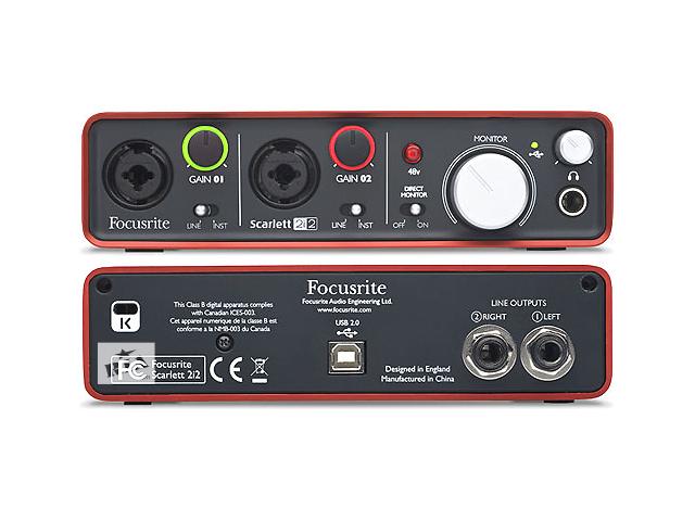 купить бу Продам Аудио интерфейс Focusrite Scarlet 2i2 в Киеве