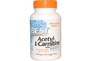 Ацетил карнитин Acetyl-L-Carnitin Doctor's Best 500 мг 120 капсул (508)