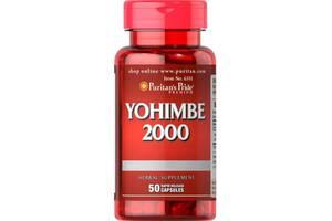 Биостимулятор Puritans Pride Йохимбе 2000 мг 50 капсул (31122)
