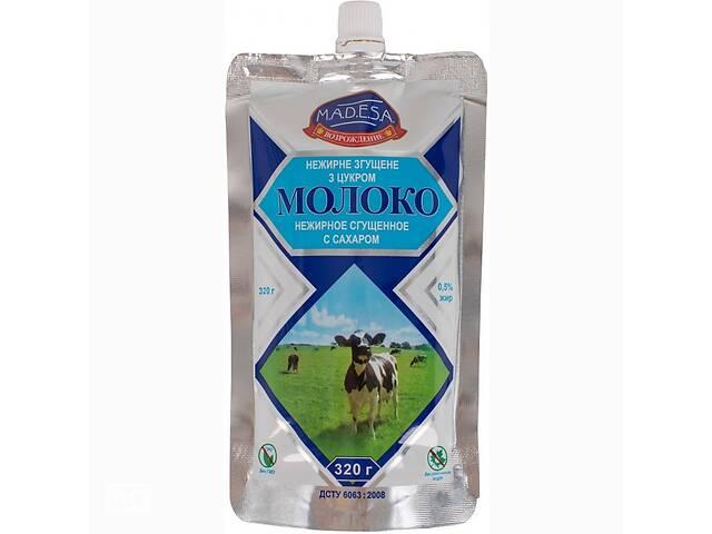 Молоко згущене з цукром 0, 5% жирності дой-пак 0, 320 кг, експорт