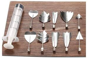 Набор инструментов Hauser Jelly Art Tool ser-D для 3D декорирования желе 10 насадок (MM-615-GD-D_psg)