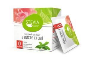 Натуральный заменитель сахара Stevia в стиках 25 г (4820130350020)
