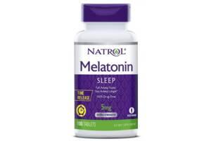 Препараты для сна Natrol Melatonin 5mg T/R - 100 таб (816346)