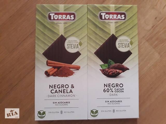 Шоколад Torras Stevia(на стевии), без сахара и глютена, Испания- объявление о продаже  в Львове