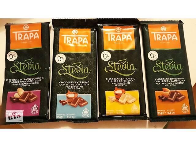 купить бу Шоколад Trapa, без сахара и глютена, Испания, 75г (УЦЕНКА) в Львове