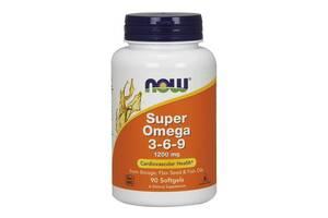 Супер Омега 3-6-9, Super Omega 3-6-9, , Now Foods, 1200 мг, 90 желатиновых капсул