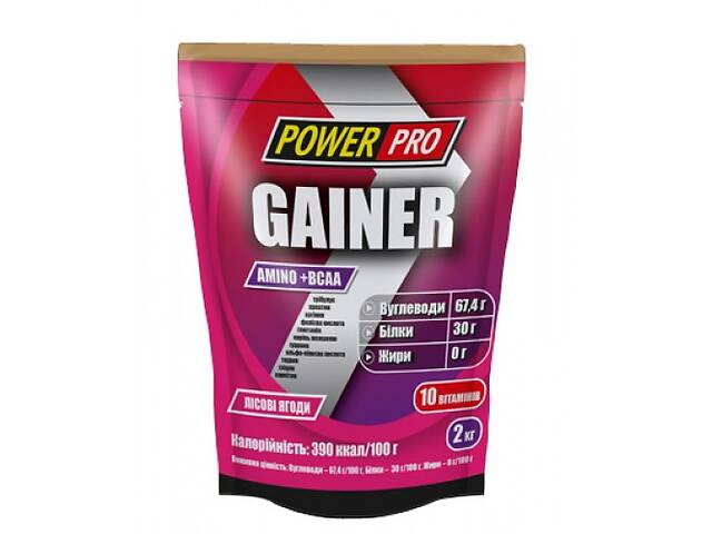 продам Углеводный гейнер Power Pro Gainer 2 кг - лесная ягода (103669) бу в Полтаве