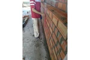 Бригада каменщиков. Кладка кирпича, газоблока, шлакоблока.