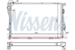 Радиатор охлаждения NISSENS 60752A BMW 5 (E39), 7 (E38) 2.0-5.4 03.94-12.03