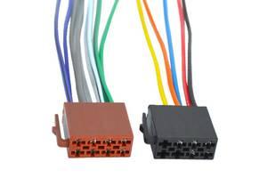 Разъём автомагнитолы ISO (гнездо) с кабелем 0,2 метра (набор 2шт.)