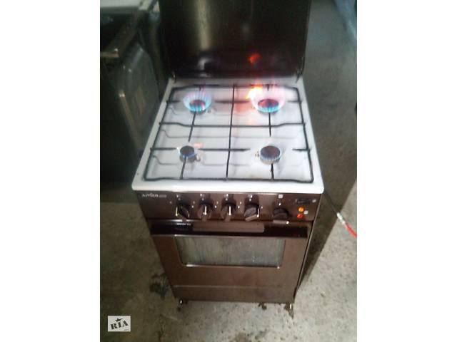 бу Газова плита з електро духовкою коричнева 50 ка б.у з Європи в Каменке-Бугской