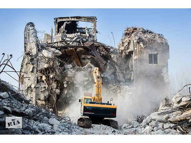бу Демонтаж Тернополь, снос зданий: гидромолот, гидроножницы, дробильный ковш (дробление бетона в вторичный щебень) в Тернополе