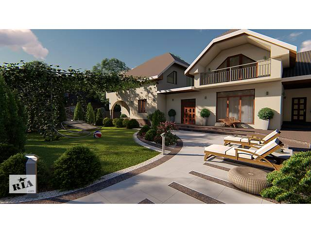 купить бу Ландшафтный дизайн, Дизайн экстерьера в Закарпатье, Ужгород, Мукачево, Берегово, Чоп, Тячево  в Украине
