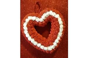 Серце із троянд.Handmade День Святого Валентина Подарунок